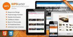 WPStarter - Responsive HTML5/CSS3 Theme   http://themeforest.net/item/wpstarter-responsive-html5css3-theme/3468858?ref=damiamio       WPStarter is a minimal and elegant fully responsive premium HTML5 theme suitable for business or portfolio websites but also for any other type of project. It is built upon the responsive Twitter Bootstrap framework and it supports bunch of framework's built in components & plugins. Beside that there are many other custom features built in like advanced theme…