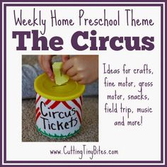 Circus theme preschool Circus Theme- Weekly Home Preschool. Preschool Summer Camp, Summer Camp Themes, Preschool At Home, Preschool Activities, Summer Camps, Educational Activities, Circus Theme Crafts, Circus Activities, Carnival Themes