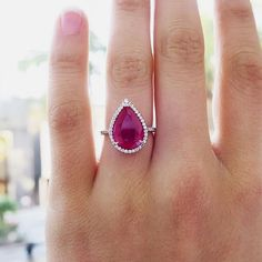 Ruby and Diamond ring #vintage #jewelry #VintageJewelry