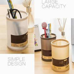 Detachable Round Pen Holder 4 Colors School Office Stationery Pencil Holders Vase Makeup Brush Holder Desk Tidy tapetes New Desi