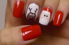 Christmas manicure nails.  Maybe have the elf leave Christmas polish with a note for a manicure.