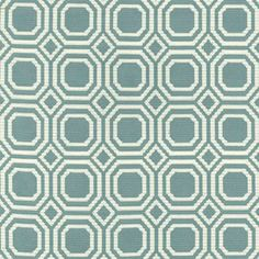 orange and teal modern upholstery fabric | Blair Teal Reversible Woven Contemporary Octagon Matelasse Fabric;
