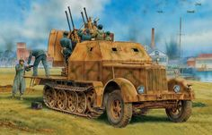 German Anti-Aircraft Vehicle: SdKfz 7/1