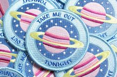 Take me anywhere, I don't care, I don't care! (Except, please make it somewhere in space!) 3 inch iron on patch