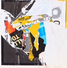"""Bella Luna"" 12 x 12 collage on panel SOLD"
