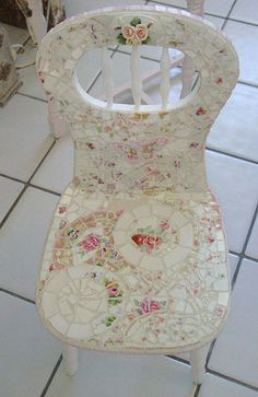 One of many childs' chairs I have done~I buy them up when i see them! Soo Cute! | Flickr - Photo Sharing!
