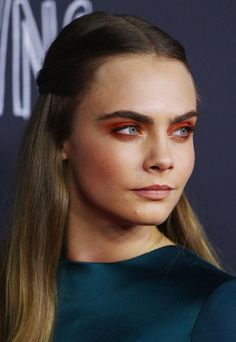 Cara Delevingne's unexpectedly-cool red eyeshadow