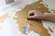 travelers worldmap.
