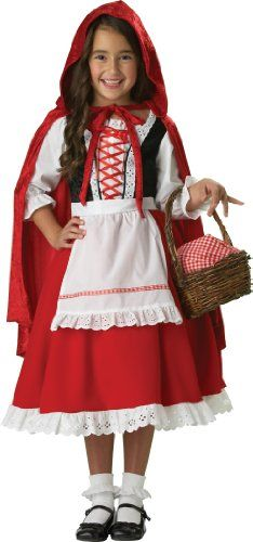 Little Red Riding Hood Costume - Medium. Elite Little Red Riding Hood Child Costume. (width: (height: hundredths-inches. Little Red Riding Hood Halloween Costume, Halloween Costumes For Girls, Halloween Fancy Dress, Girl Costumes, Halloween Kids, Animal Costumes, Costume Ideas, Kids Dress Up Costumes, Cosplay Costumes