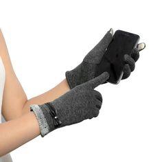 Womens Touch Screen Winter Warm Wrist Gloves Mittens