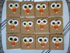 GreenChicken31: Graham Cracker Owl Crafts Could call it a turkey for Thanksgiving.
