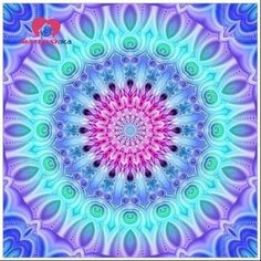 Diamond Painting Abstract Aqua and Lavender Mandala Kit Mandala Art, Mandala Design, Mandala Pattern, Psychedelic Art, Cute Wallpapers, Wallpaper Backgrounds, Psy Art, 5d Diamond Painting, Fractal Art