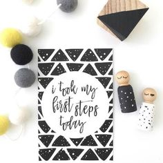 Monochrome Baby Milestone Cards Printed 27 by SophieLousPrints