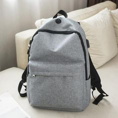 Canvas Schoolbag Backpack for Teenagers Boys High School College Students School  Bag for Men Anti Theft Casual Book Bag Women 2b9e2412b20ef