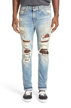 Main Image - R13 Skate Destroyed Jeans (Cromwell)