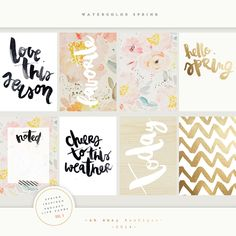 Project Life Watercolor Spring by Oh Snap Boutique on @creativemarket
