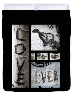 "Love Written in the Trees Queen (88"" x 88"") Duvet Cover by Tamara Kulish"