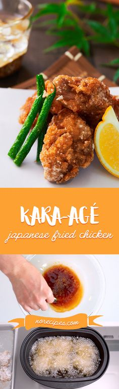With a crisp shell surrounding juicy chicken, Karaage (Japanese Fried Chicken), is a staple of Japanese home cooking and one of the most popular bento items. Yummy Chicken Recipes, Yum Yum Chicken, Veggie Recipes, Asian Recipes, Great Recipes, Dinner Recipes, Cooking Recipes, Japanese Recipes, Japanese Food