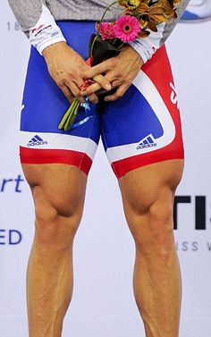 british team shorts worn by track cycling gold medallist chris hoy