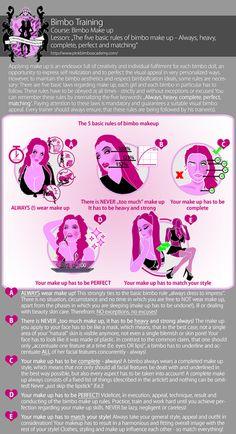 PBA Guide to Bimbo Makeup – The 5 basic rules for bimbo make up - Pink Bimbo AcademyThe PBA Guide to Bimbo Makeup – The 5 basic rules for bimbo make up - Pink Bimbo Academy