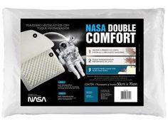 #TaBacanaTaBarato  É só clicar no link ou na descrição e conferir no MagazineBrasilcompleto.  Travesseiro Espuma Viscoelástica - Fibrasca NASA Double Comfort
