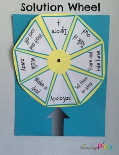 Solution Wheel: A Simple Way To Help Kids Solve Problems