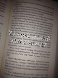 Anyone?  *read