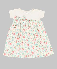 ffd35446b1df4 Love this Ivory   Pink Baby Kisses Babydoll Dress by Tesa Babe on  zulily!