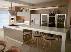 """5,321 Likes, 34 Comments - Decor•house•Home•Casa•Int•arq (@_homeidea) on Instagram: """"Cozinha e sacada integradas com direito a uma vista do mar belíssima. Amei❣️ Projeto Giovane…"""""""