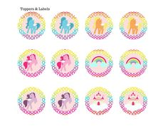 Rainbow Unicorn Pony Birthday Printables - Magical Printable