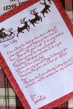 letter from santa to kids free printable gift tags & from santa gift tags printable free Free Printable Santa Letters, Free Letters From Santa, Message From Santa, Santa Letter Template, Free Printable Gift Tags, Letter Templates, Templates Free, Free Printables, Father Christmas Letters