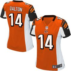 Nike NFL Elite Womens Cincinnati Bengals Orange http://#14 Andy Dalton Alternate Jersey
