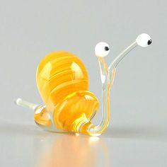 Soooo cute! Curious Snail Glass Figurine