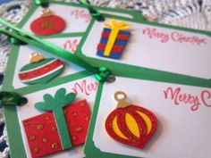 Christmas Gift Tag Presents and Ornaments by EllieMarieDesigns, $6.50