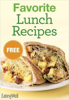 Get recipes for a Curried Chicken Pitas, Southwestern Cheese Panini, White Chili and more healthy lunch recipes in this FREE cookbook.