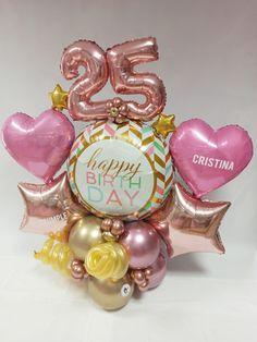 Balloon Arrangements, Balloon Centerpieces, 40th Birthday Balloons, Mini Balloons, Birthday Balloon Decorations, Gift Bouquet, Balloon Gift, Balloon Bouquet, Bouquets