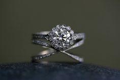 Unusual wedding ring set.