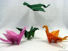 How to make Origami Dragons.