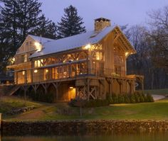 Beautiful Barn Homes | Beautiful house from a salvaged barn | Things I LOVE