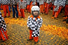 Young Orange-Thrower, Ivrea Carnival, Italy by Vincent Besanceney, via Flickr