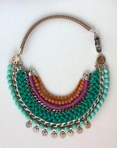 Zawady colorful statement necklace, DIY inspiration