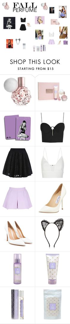"""""""Fall Perfume- Ari by Ariana Grande"""" by akilahdavis ❤ liked on Polyvore featuring beauty, Zimmermann, Narciso Rodriguez, Jimmy Choo, Gianvito Rossi and River Island"""