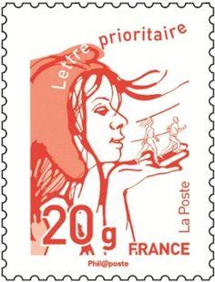 [#philatélie] Nouveau timbre-poste Marianne 2013. Projets : la Marianne de Patte © La Poste, DR.