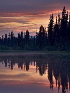 Photographic Print: Sunset at An Unnamed Lake Near Salmo Lake, Alaska Highway, Yukon Territory, Canada, North America by James Hager : Calming Pictures, Nature Pictures, Calming Images, Lake Photography, Landscape Photography, Aerial Photography, Landscape Photos, Portrait Photography, Wedding Photography