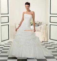 Hof-Schleppe Reißverschluss Natürlich Brautkleider 2014