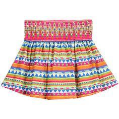 Aztec Printed Cotton Jersey Skirt, Agatha Ruiz de la Prada, Girl