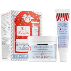 Shop First Aid Beauty's Fab Delights at Sephora. This kit delivers hydration with a hint of scent and pop of color this holiday season and new year.