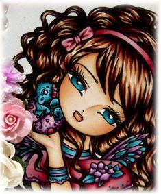 Original Artwork by Hannah Lynn Art Coloring Tips, Adult Coloring, Coloring Books, Coloring Pages, Copic Markers Tutorial, Copic Art, Copic Sketch, Hannah Lynn, Color Of The Day