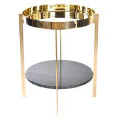 7000kr Deck sidebord, grøn marmor/messing i gruppen Møbler / Bord / Sidebord & Småbord hos ROOM21.dk (130029)