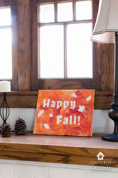 If you're looking for a fun fall painting craft for toddlers to do this year, this one is perfect because it allows them to paint however they want! Check out this easy fall craft for toddlers you can make with your Cricut.